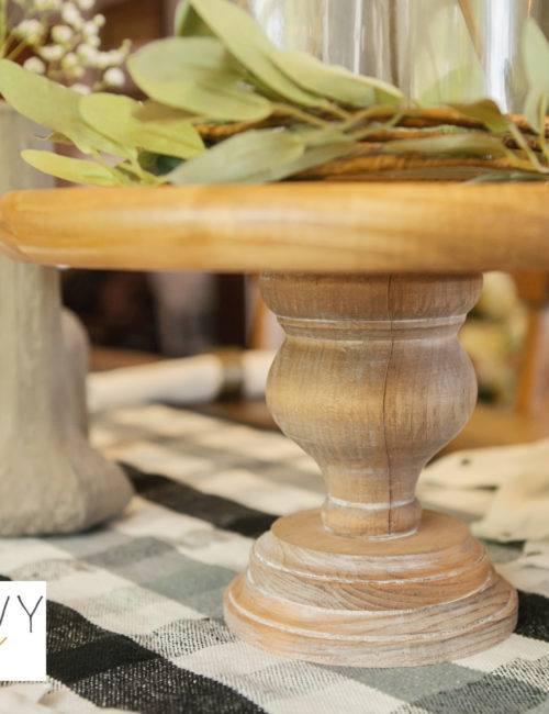 DIY Wooden Cake Stand